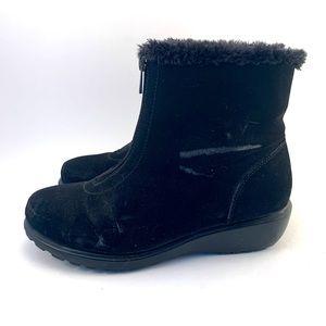 Zip-Up Snow Boots
